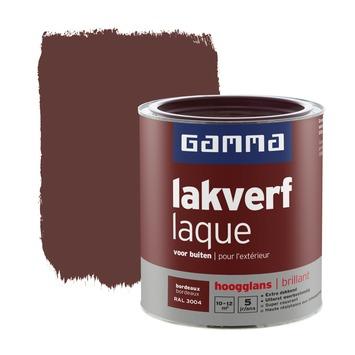 GAMMA lakverf voor buiten bordeaux hoogglans 750 ml