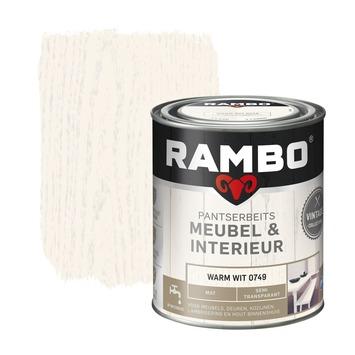 Rambo Vintage pantserbeits meubel & interieur dekkend warm wit mat 750 ml