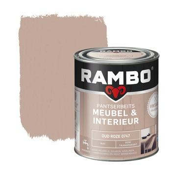 Rambo Vintage pantserbeits meubel & interieur dekkend oud roze mat 750 ml