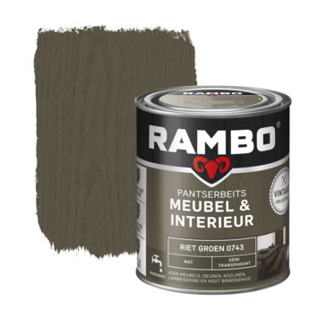 Rambo Vintage pantserbeits meubel & interieur dekkend riet groen mat 750 ml