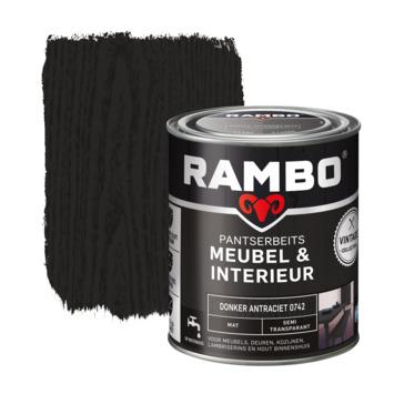 Rambo Vintage pantserbeits meubel & interieur dekkend donker antraciet mat 750 ml