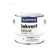 GAMMA lakverf voor binnen wit hoogglans 2,5 liter