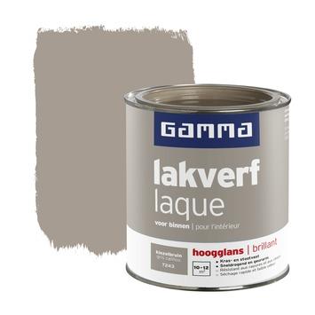 GAMMA lakverf voor binnen kiezelbruin hoogglans 750 ml
