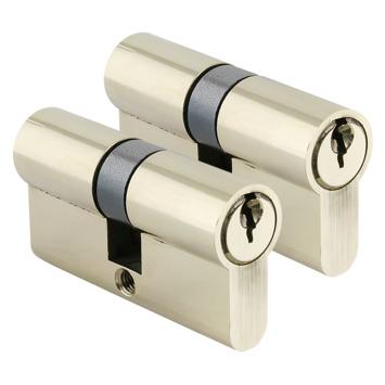 GAMMA cilinder gelijksluitend messing 30/30 mm2 stuks