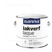 GAMMA lakverf voor binnen wit mat 2,5 liter