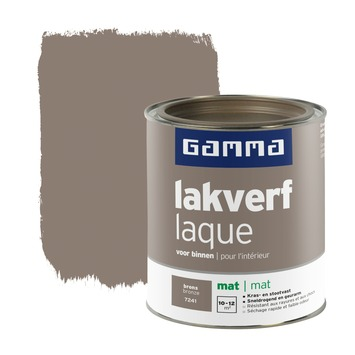 GAMMA lakverf voor binnen brons mat 750 ml