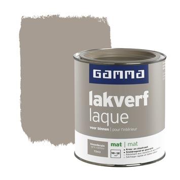 GAMMA lakverf voor binnen kiezelbruin mat 750 ml