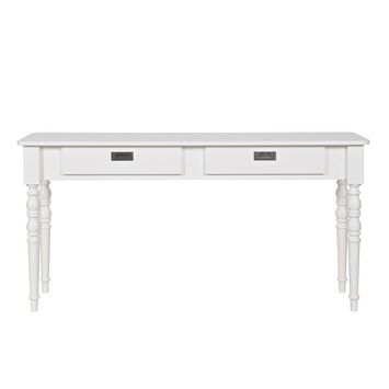 Sidetable Grenen Hout.Qwint Sidetable Grenen Wit 150x40x77cm