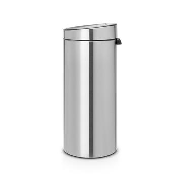 Brabantia Touch Bin Rvs.Gamma Brabantia Prullenbak Touch Bin Met Push Open Rvs 30 Liter