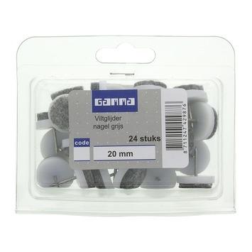 GAMMA viltglijder grijs 20 mm 24 stuks