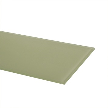 Duraline glaspaneel 4xS rechthoek christal 6 mm 60x15 cm