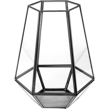 Lantaarn hexagoon zwart 25 cm