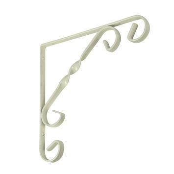 Duraline plankdrager ornament wit 15x15 cm