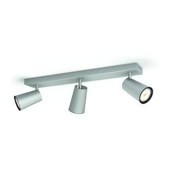 Philips Paisley triobalk 3x GU10 exclusief lampen max. 3X5,5W aluminium