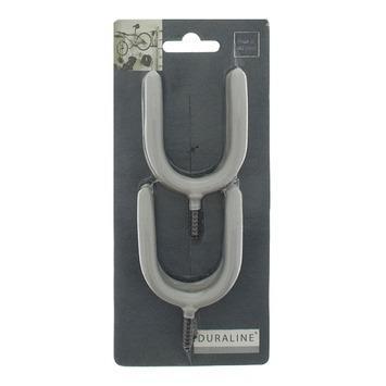 Duraline haakset hooks grijs maximaal 0 - 40 mm 4 stuks