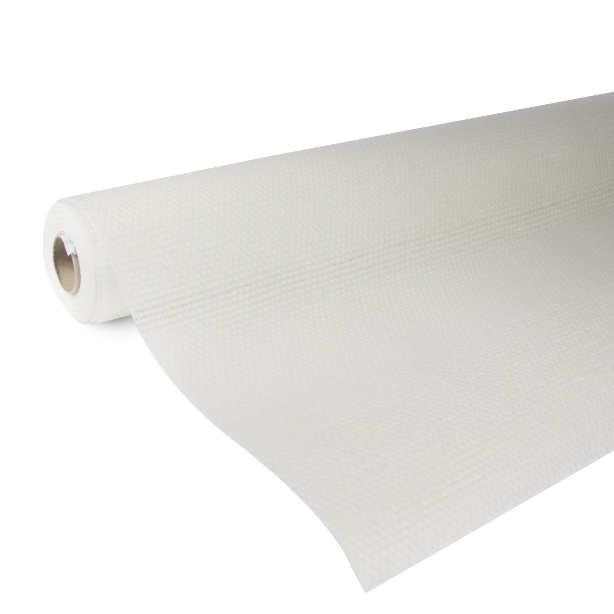 OK glasweefselbehang ruit wit 25 m (dessin P251-25)