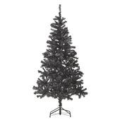 Kunstkerstboom Aalborg 180 cm met LED verlichting zwart