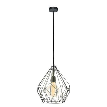 EGLO hanglamp Carlton E27 zwart