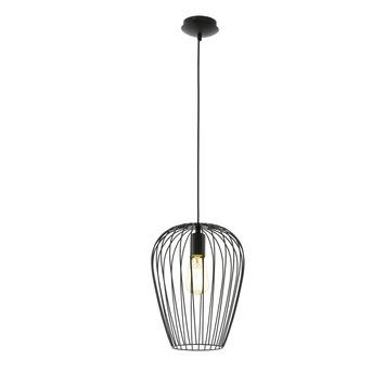 EGLO hanglamp Newtown E27 zwart