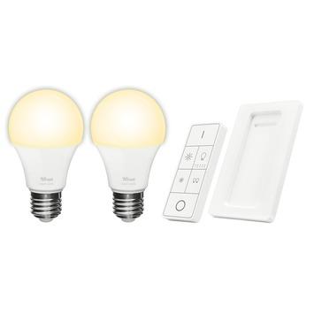 KlikAanKlikUit Trust ZigBee afstandsbediening + 2 dimbare E27 lampen