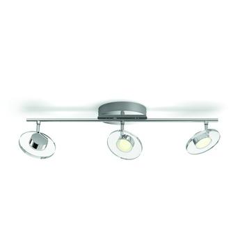 Philips Glissette triobalk met geïntegreerde LED 3x 4,5 W inox