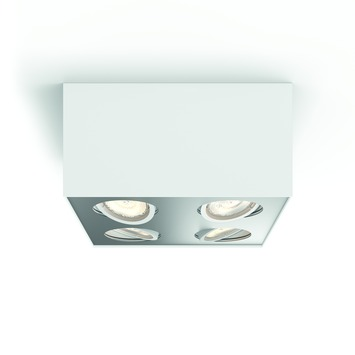 Philips opbouwspot MyLiving Box LED Wit 4 x 4.5W