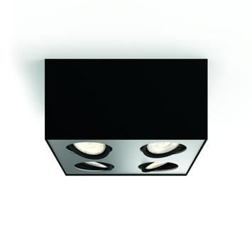 Philips opbouwspot MyLiving Box LED Zwart 4 x 4.5W