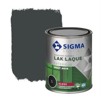 Sigma lak exterieur 7021 zwart grijs hoogglans 750 ml