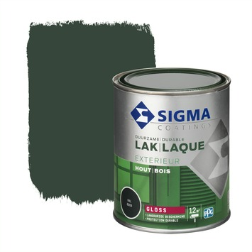 Sigma lak exterieur 6009 dennengroen hoogglans 750 ml