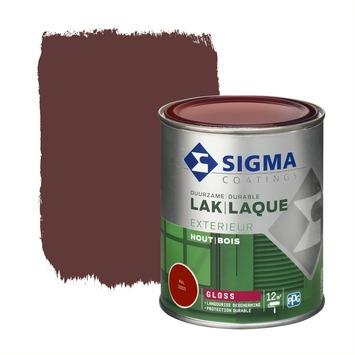 Sigma lak exterieur 3005 wijnrood hoogglans 750 ml