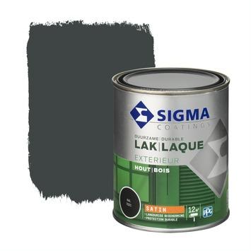 Sigma lak exterieur 7021 zwart grijs zijdeglans 750 ml