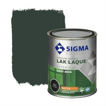 Sigma lak exterieur grachtengroen zijdeglans 750 ml