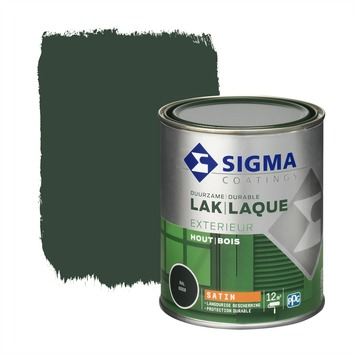 Sigma lak exterieur 6009 dennengroen zijdeglans 750 ml