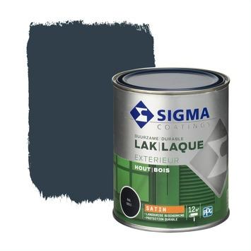 Sigma lak exterieur 5011 staalblauw zijdeglans 750 ml