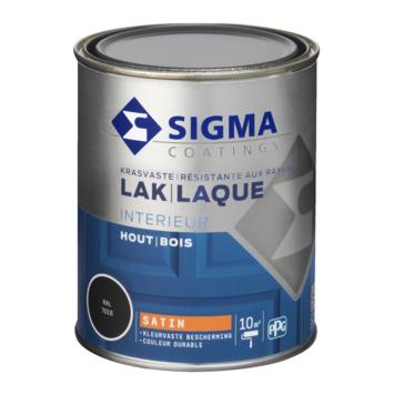 Sigma lak interieur 7016 antraciet grijs zijdeglans 750 ml