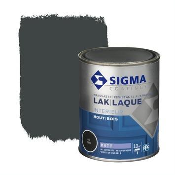 Sigma Lak Interieur mat 7021 zwart grijs