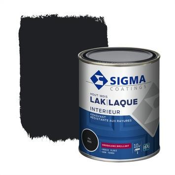 Sigma lak interieur 9005 gitzwart hoogglans 750 ml
