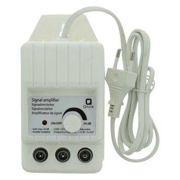 Q-Link signaalversterker 2 uit regelbaar wit