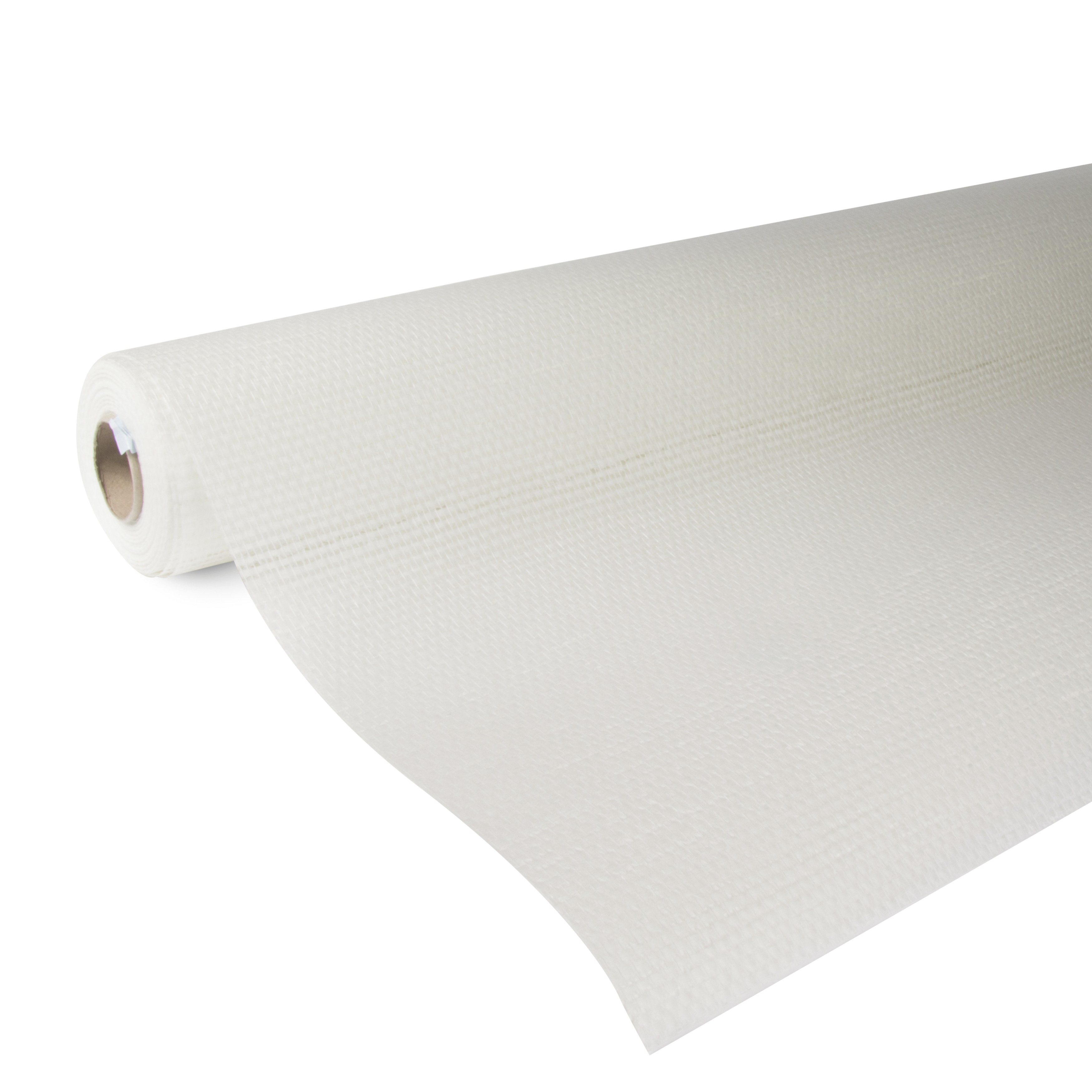 Glasweefselbehang ruit midden wit 50 meter promo (dessin P251-50)