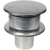 Rookgaskap aluminium 130 mm blank