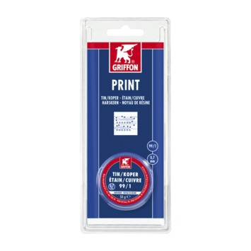 Griffon printsoldeer 0.7 mm tin/koper 50 gram