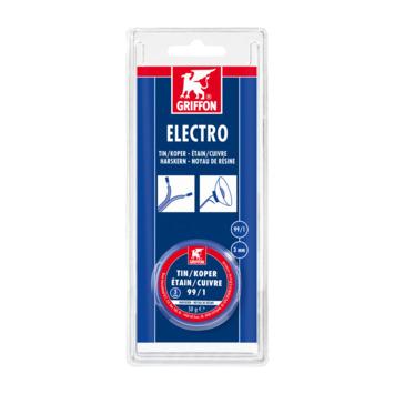 Griffon electro 3 mm tin/koper 50 gram