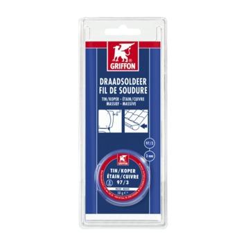 Griffon draadsoldeer 3 mm tin/koper 50 gram