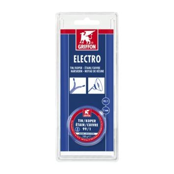 Griffon electro 3 mm tin/koper 100 gram
