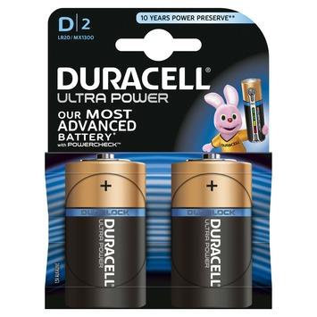 Duracell Ultra Power batterij d 2 stuks