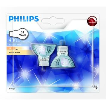 Philips halogeenspot GU4 25W helder 2 stuks