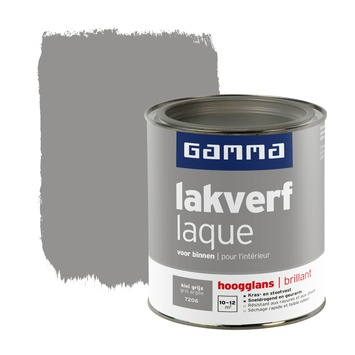 GAMMA lakverf voor binnen klei grijs hoogglans 750 ml