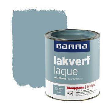 GAMMA lakverf voor binnen staal blauw hoogglans 750 ml