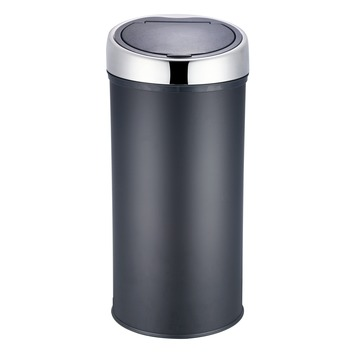 Brabantia Touch Bin 30 L Mat Zwart.Hanson Soft Touch Prullenbak 30 Liter Mat Zwart