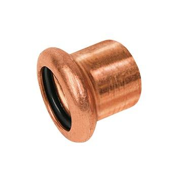 Bonfix press water eindkoppeling 22mm roodkoper